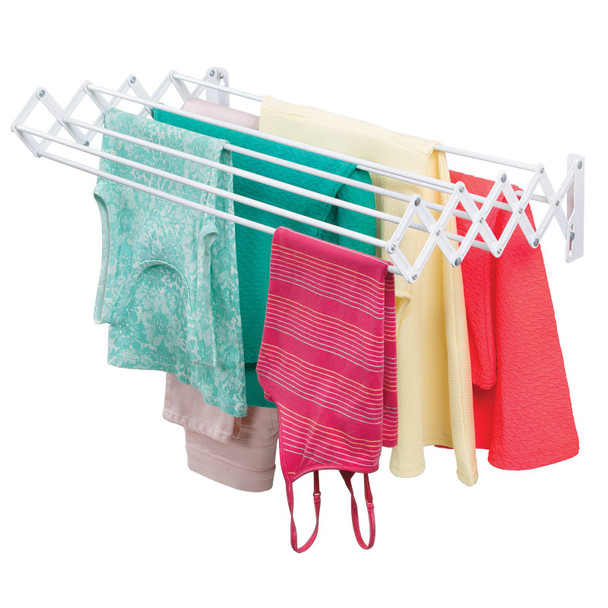 Metal Wall Mount Accordion Laundry Clothes Drying Rack