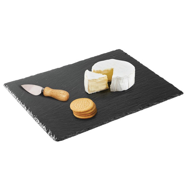 "Rectangular Slate Kitchen Serving Tray - 11.8"" x 15.7"" x .2"""