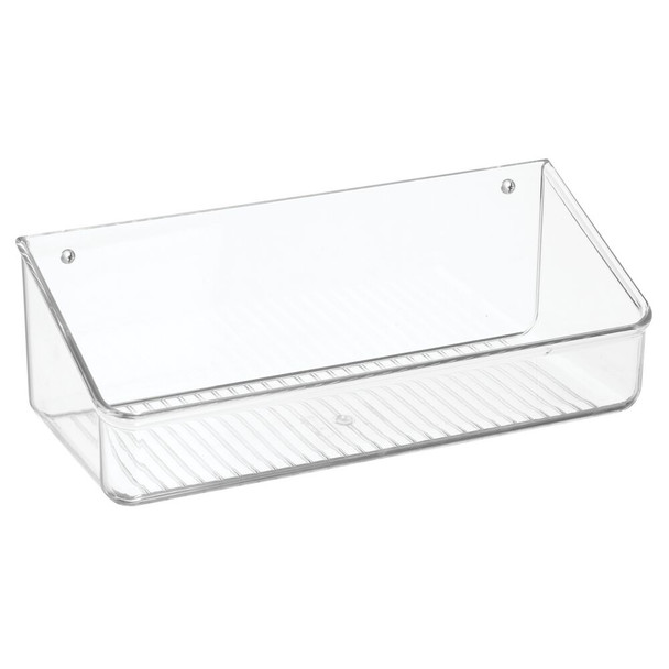 """Small Plastic Wall Mount Bin for Home Storage - 5"""" x 12.2"""" x 4.25"""""""