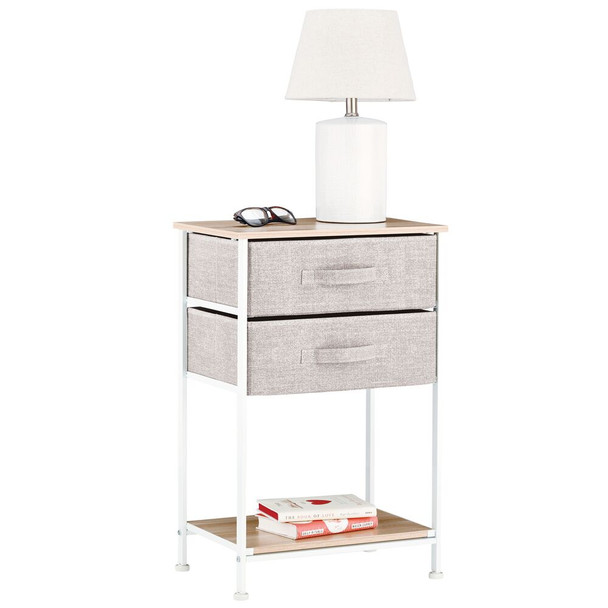 Fabric Storage Side End Table Nightstand Organizer