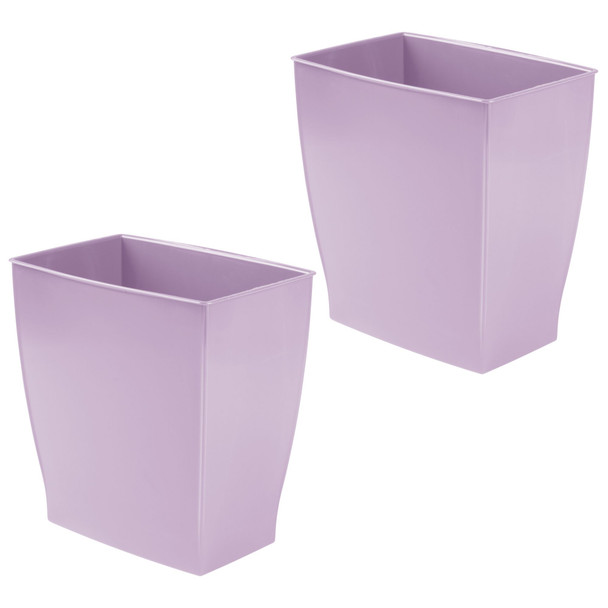 Small Plastic Rectangular Trash Can Garbage Bin
