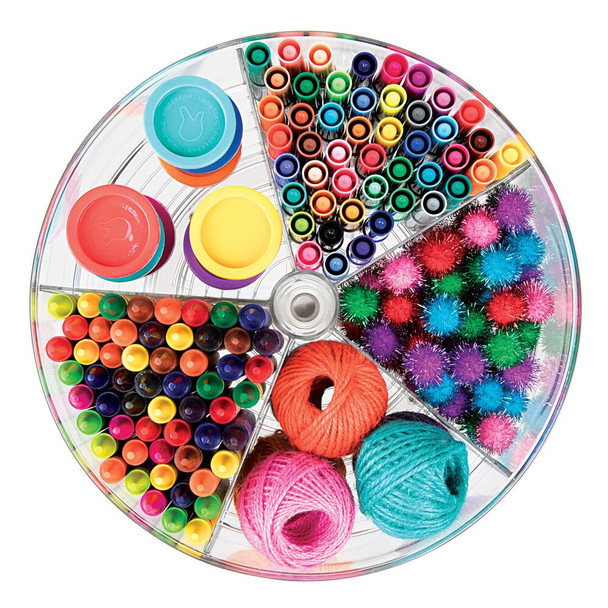 Plastic Divided Lazy Susan Turntable for Home Office Storage