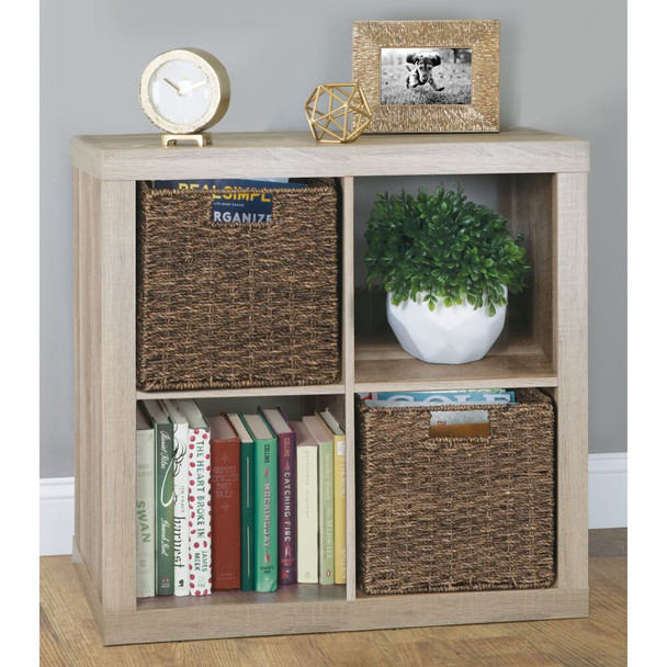 "Natural Woven Hyacinth Storage Cube Bins - 10.5"" x 10.5"" x 10.5"""