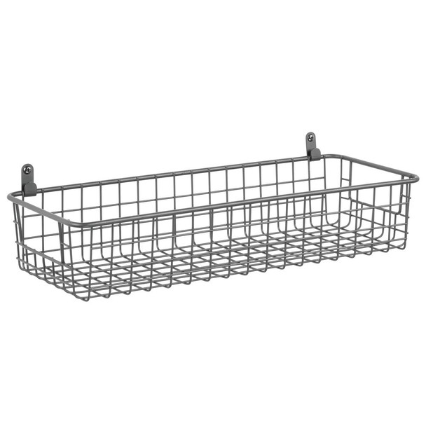 Small Metal Wire Wall Mount Storage Basket