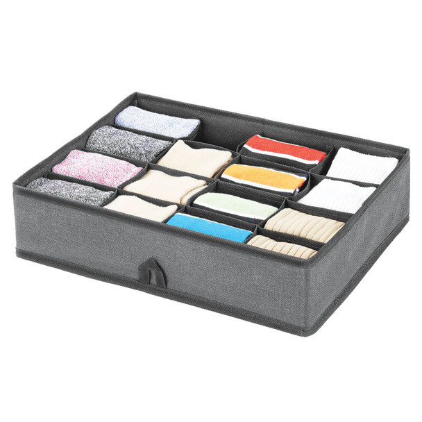 Fabric Divided Dresser Drawer Organizer 16S