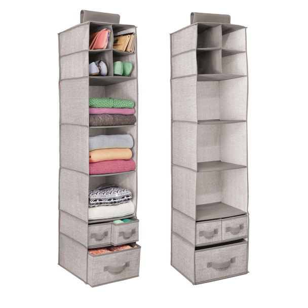 7 Shelf Fabric Hanging Closet Storage Organizer