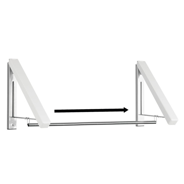 Metal Expandable Wall Mount Laundry Clothes Drying Rack