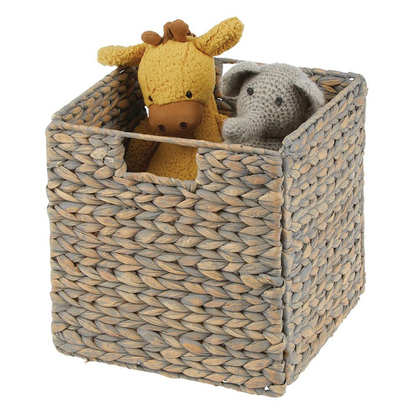 Natural Woven Storage Cube Baskets - Pack of 2