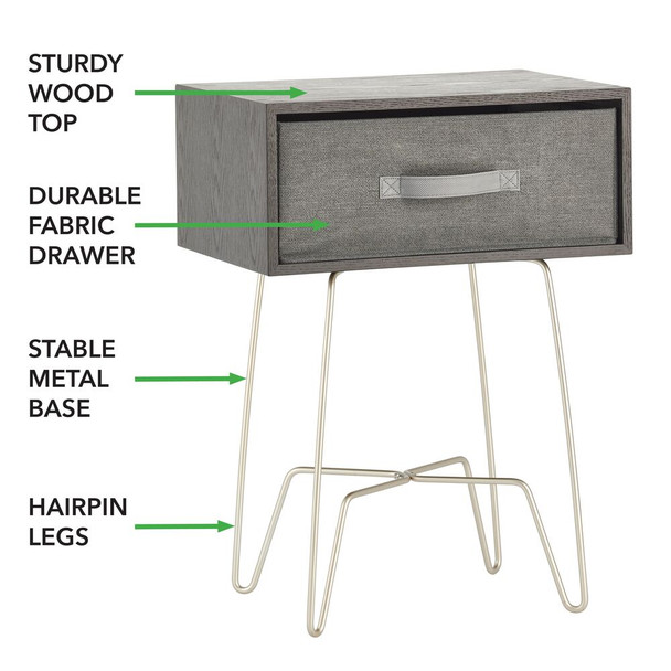 Modern Farmhouse Side/  End Table With Drawer