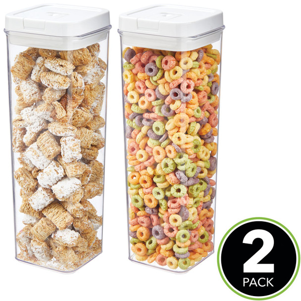 Tall Airtight Food Storage Containers with Lid - Pack of 2