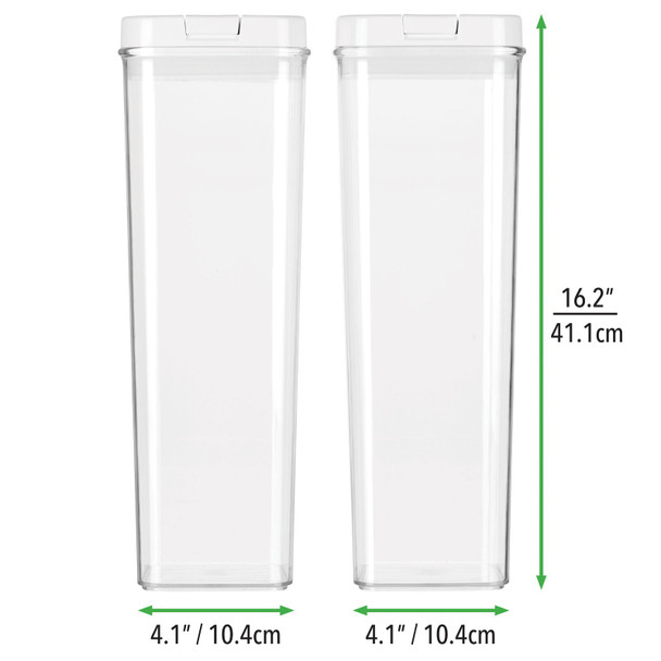 Tall Airtight Food Storage Containers with Lid, Pack of 2