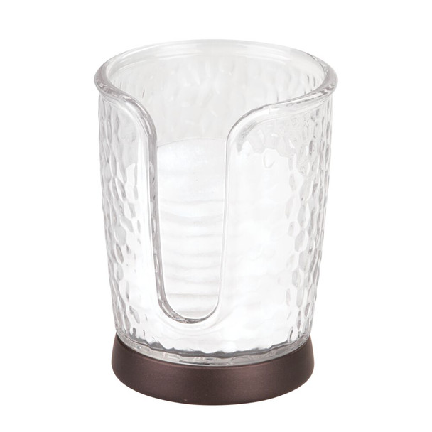 Disposable Paper Cup Dispenser Holder for Bathroom, Textured Plastic