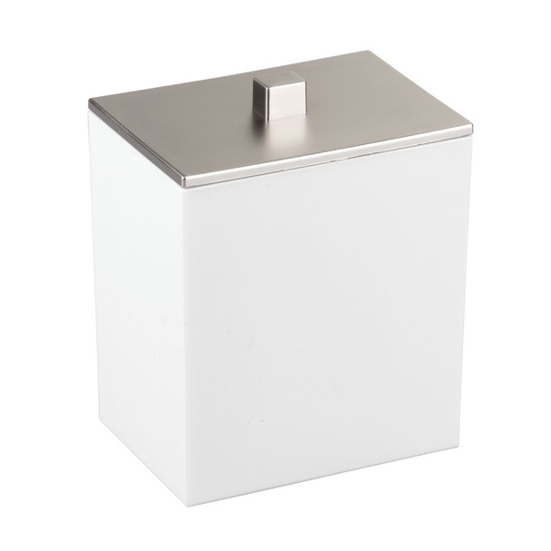 Rectangular Plastic Bathroom Vanity Storage Canister Jar