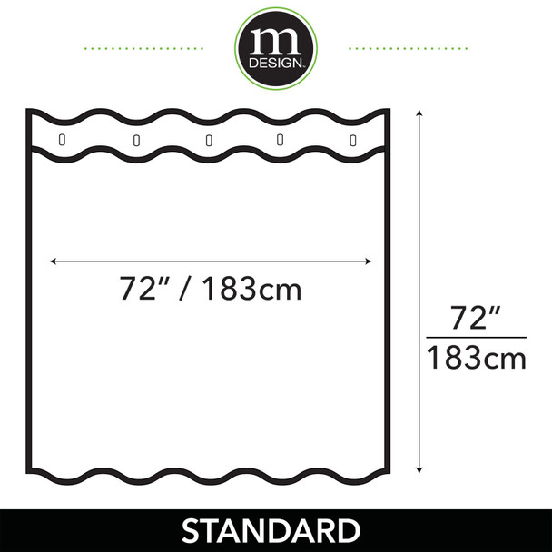 "Waffle Weave Cotton Fabric Shower Curtain - 72"" x 72"""