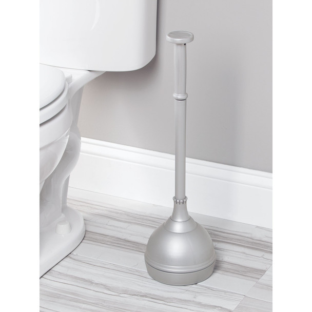 Heavy Duty Plastic Bathroom Toilet Bowl Plunger with Cover