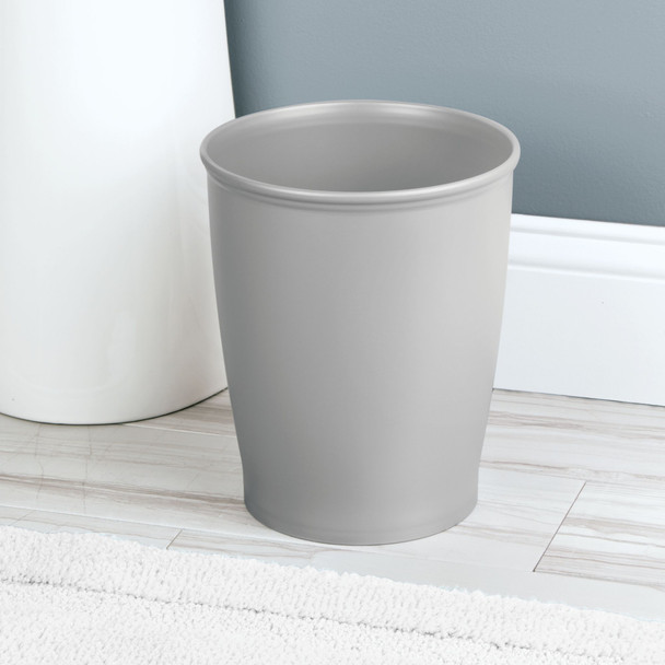 Modern Plastic Round Trash Can Garbage Bin, Small