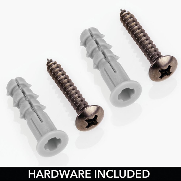 2 Tier Metal Wall Mount Iron Holder Laundry Storage Basket