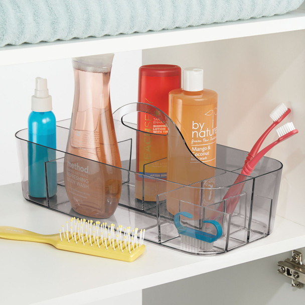 Large Plastic Bathroom Storage Organizer Tote with Handle