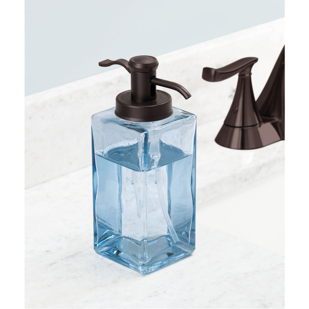 Decorative Glass Refillable Soap Dispenser Pump