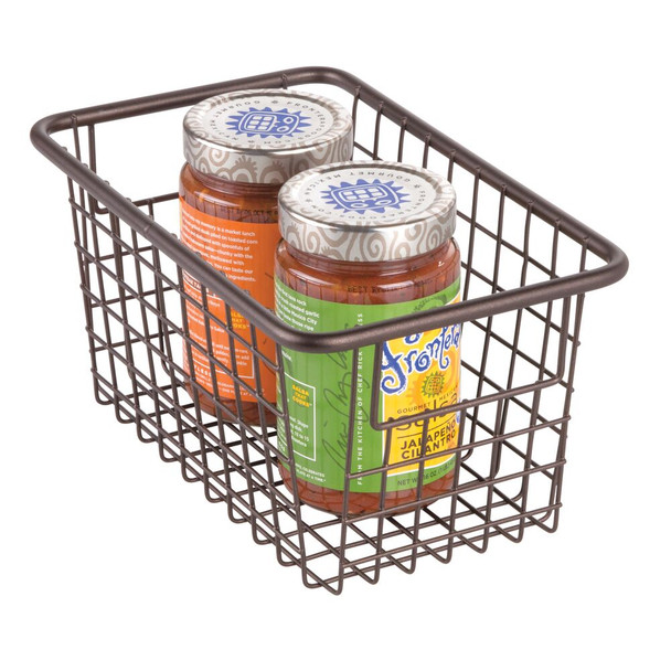 "Metal Wire Pantry Food Storage Basket - 10.25"" x 6.25"" x 5.25"""