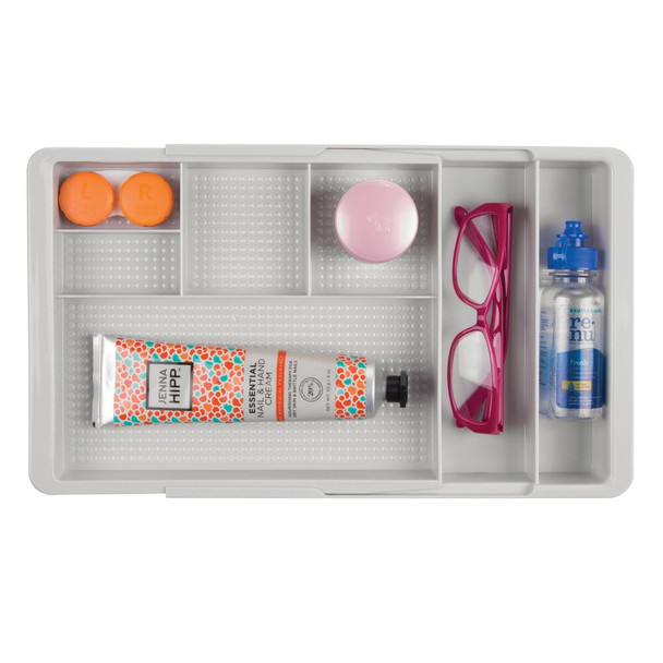 7 Section Expandable Makeup Drawer Organizer Tray