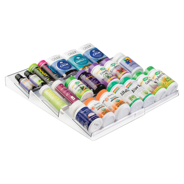 Expandable Bathroom Vitamin Storage Drawer Organizer