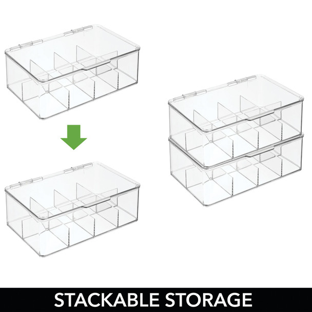 "8 Section Large Stacking Hair Accessory Storage Box - 7.25"" x 10.75"" x 3.75"""