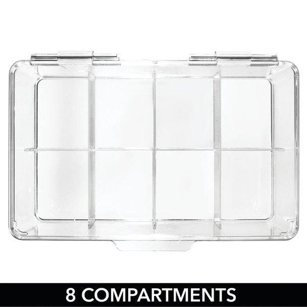 """8 Section Large Stacking Hair Accessory Storage Box - 7.25"""" x 10.75"""" x 3.75"""""""