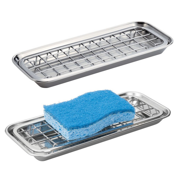 Metal Kitchen Sink Tray Soap Dish / Sponge Holder