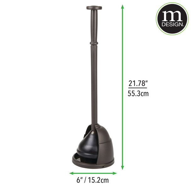 Heavy Duty Bathroom Toilet Bowl Plunger with Drip Tray