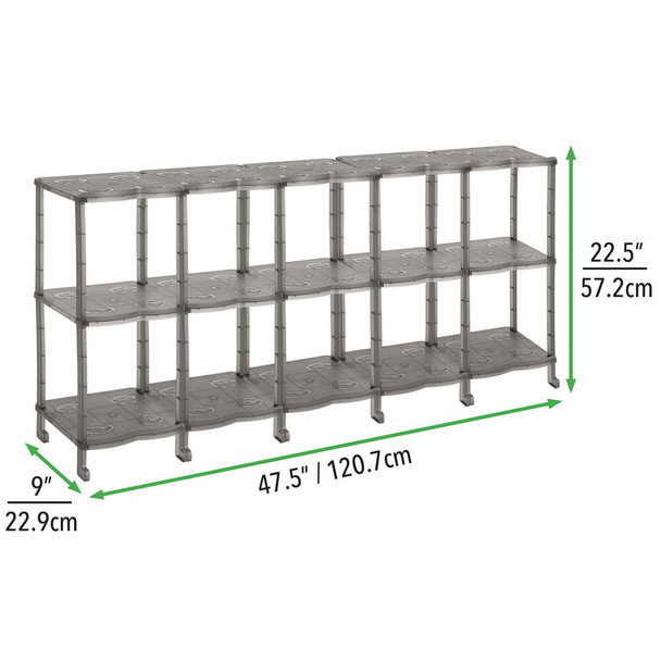 Tiered Plastic Shoe Rack Floor Stand Storage