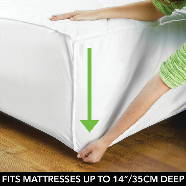 Hypoallergenic Quilted Mattress Pad Cover