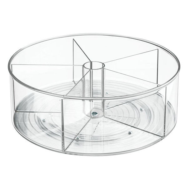 "Deep Plastic Lazy Susan Turntable for Bath Vanity Storage - 11.5"" Diameter"