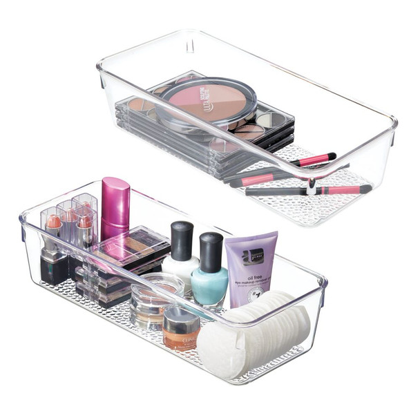 "Long Cosmetic Drawer Organizer Storage Tray - 12"" x 5"" x 3"""