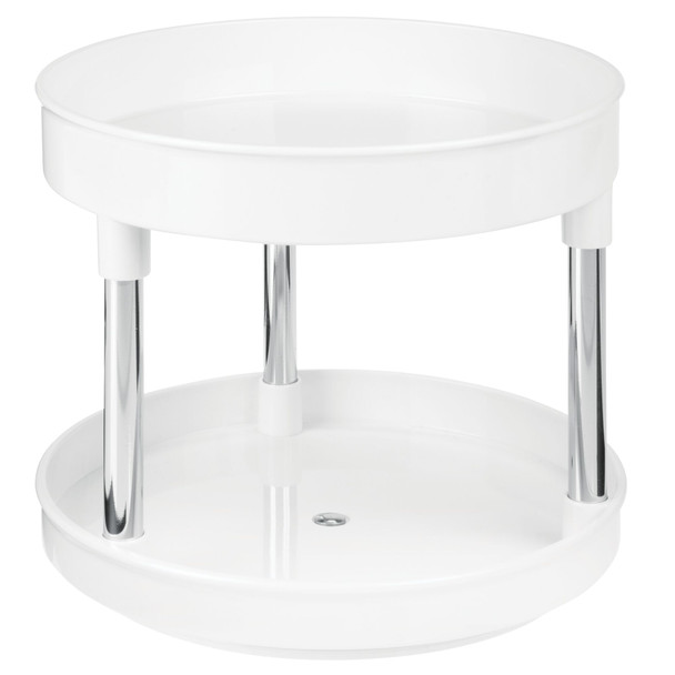 "2-Tier Lazy Susan Turntable for Office Storage - 9"" Round"