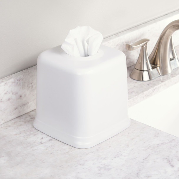 Square Metal Facial Tissue Box Cover Holder