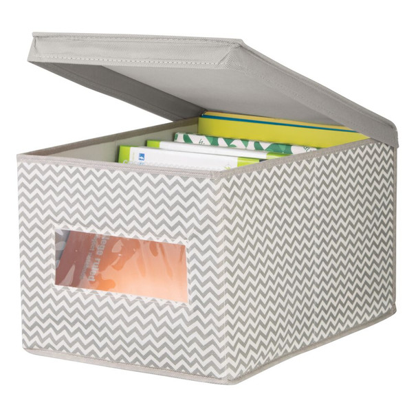 "Fabric Home Office Storage Cube Bin - 15.5"" x 11.75"" x 9.75"""