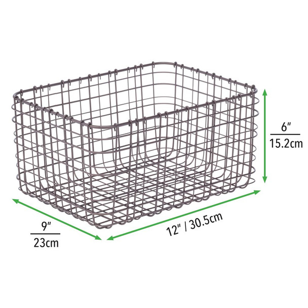Metal Wire Kitchen Pantry Food Storage Basket