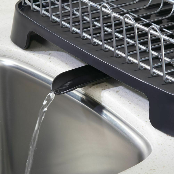 Large Kitchen Sink Dish Drying Rack w/ Swivel Spout