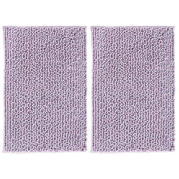 Microfiber Bathroom Rug - Pack of 2