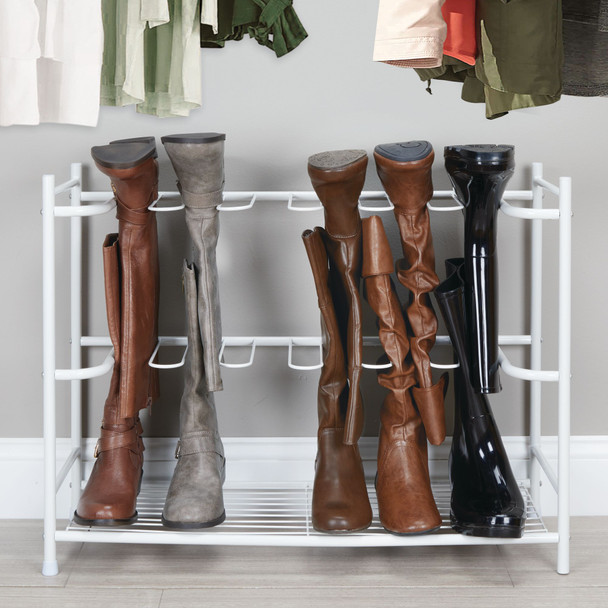 6-Pair Metal Boot / Shoe Rack Floor Stand Storage