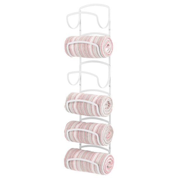 6-Tier Wall Mount Single Prong Towel Holder