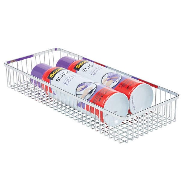 """Metal Wire Drawer Organizer for Office - 15.25"""" x 6.25"""" x 2.25"""""""