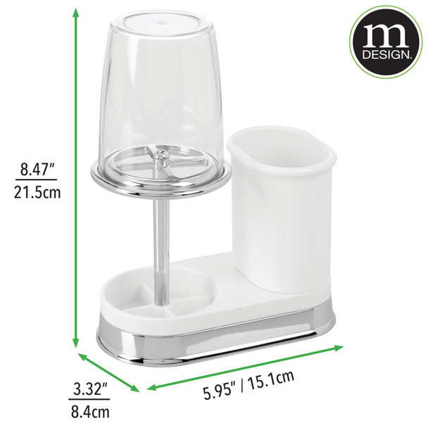 Plastic Bathroom Toothbrush Stand and Toothpaste Holder with Rinsing Cup/Cover