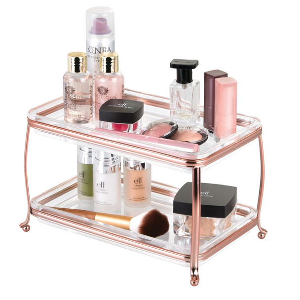 2 Tier Vanity Makeup Cosmetic Storage Organizer Tray
