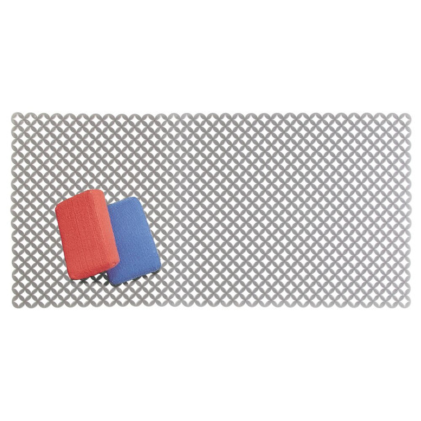 """Extra Large Plastic Kitchen Sink Protector Mat with Diamond Pattern - 12"""" x 25"""""""
