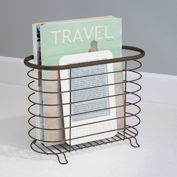 Free Standing Bathroom Magazine Rack Newspaper Stand