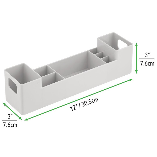 Small Plastic Bathroom Cabinet Storage Bin with Handles - Pack of 2