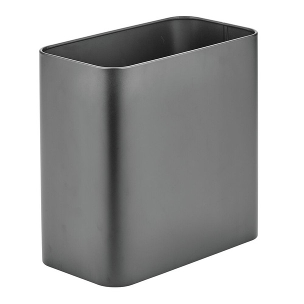 Small Modern Metal Rectangular Trash Can Garbage Bin
