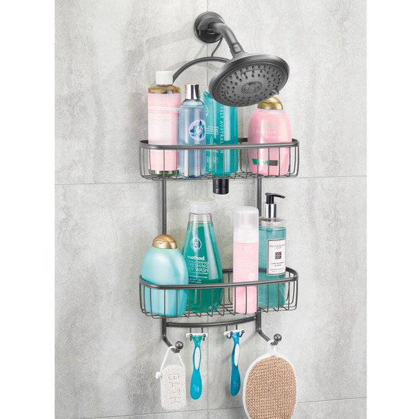 Metal Wire Bathroom Tub/Shower Caddy, Hanging Storage